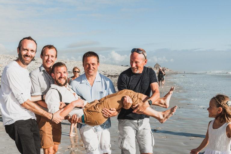 Mariage, Bretagne, cérémonie laïque, Plage, séance photo, mariage entre amis