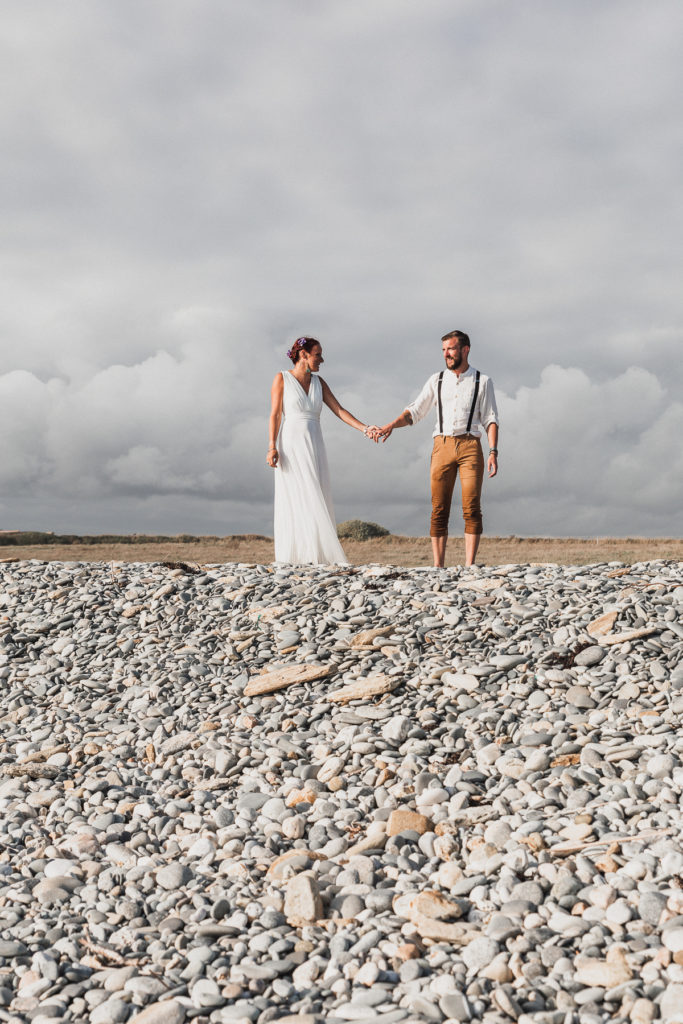 Mariage, Bretagne, cérémonie laïque, Plage, séance couple,