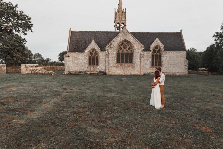 Mariage, Bretagne, cérémonie laïque, chapelle bretonne, histoire, séance couple